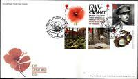 GB FDC 2018 GREAT WAR 1918 DADS ARMY RAF WEDDING DEFIN WOMEN THRONES 2018 ISSUES