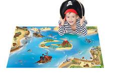 """Kinder Spielteppich """"Pirat"""" 100 x 150 cm Spielmatte Schiff Boot Teppich NEU OVP"""