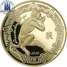 France 50 Euro Gold Coin 2016 PP La Fontaine Lunar Series Year of the Monkey