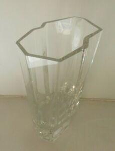 Vintage IITTALA 1988 Crystal Vase Signed Tapio Wirkkala