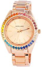 Excellanc Damen Armbanduhr 40 mm Metallarmband RoseGold Damenuhr Armband Uhr