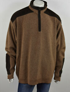 PAUL & SHARK Yachting Italian Wool w/ Corduroy Patches Pullover Sweater 3XT 3XLT