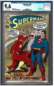 SUPERMAN #220 CGC 9.6 (10/69) DC COMICS white pages