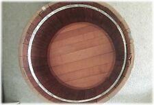 Decorative Oak Planter Barrel / End Table - ONLY ONE LIKE IT