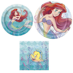 The Little Mermaid Happy Birthday 3 Piece Party Pack - Serves 8