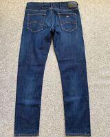 NWOT Armani Jeans AJ J06 Slim Fit Mens Blue Denim Jeans | 34W 32L