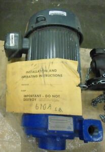 Peerless Pump Sterling Fluid Systems Pump C610AMBF Horizontal suction pump 15HP