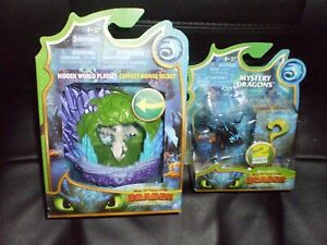 HTTYD Hidden World LIGHT FURY Cave Playset and TOOTHLESS MYSTERY DRAGONS