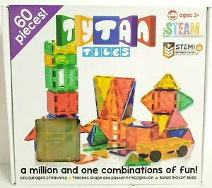 Tytan Magnetic Learning Tiles Building Set with 60 pieces Fast Shipping