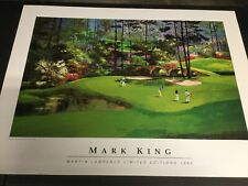 """MARK KING 12TH HOLE AT AUGUSTA"" LITHOGRAPH PRINT MARTIN LAWRENCE LIM EDIT. 1989"