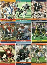 1990 NFL Pro Set FELIX WRIGHT Signed Card Lambeau Field BROWNS DRAKE