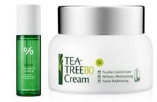 Ljh TeaTree 95 Essence + Tea Tree 80 Cream Korean Cosmetis Sooth & Moisturize