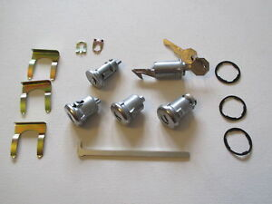 67 CHEV IGNITION DOOR BOOT AND GLOVE BOX LOCK SET NEW IMPALA BELAIR 67