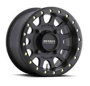Method Race 401 Beadlock MR40147046543B UTV Wheel Rim 14x7 +13mm 4x156 Black