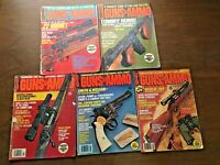 GUNS & AMMO MAGAZINE 1973 '76 '78, Lot 5, Firearms Shooting Hunting Ads Vintage