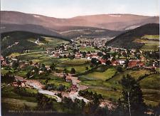 Polen, Riesengebirge. Krummhübel. vintage print photochromie, vintage photochr