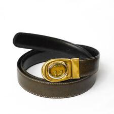 vintage 80's gucci men's reversible belt  brown / black