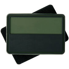 2x Helikon Polish Subdued Rubber Flag Tactical Morale Patch Olive Green