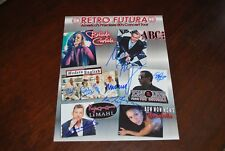 RETRO FUTURA CONCERT PHOTO SIGN BY ABC MODERN ENGLISH TONY LEWIS LIMAHL W/PROOF