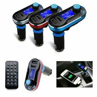 Bluetooth Car Kit MP3 Player FM Transmitter SD LCD Dual USB Charger With Remote