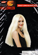 Happy Halloween Adult Witch Wig - Long Blonde Hair - # 788494 - New With Tags