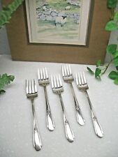 5  International Silver Wm Rogers Memory HIAWATHA Silverplate Salad Forks  1937