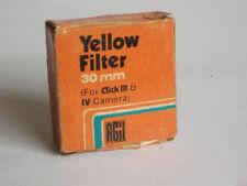 Rare India Made Agfa Gevaert 30mm Yellow Filter fr Agfa Click III / IV Cameras