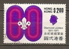 Hong Kong - used $2 high value from 1971 Boy Scouts anniversary set - Sc# 264
