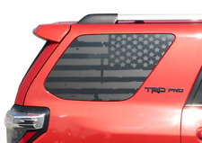 Distressed USA Flag Decal Fits 2010-2020 Toyota 4Runner TRD PRO Rear windows TF2