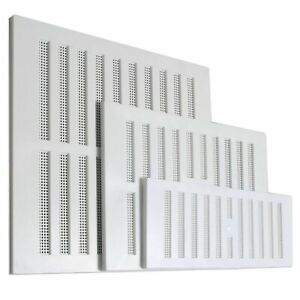 OPEN AND CLOSE ADJUSTABLE AIR VENT Hit & Miss Wall System Cover White Screen UK