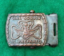 GIRL SCOUT  -1922-36 GIRL SCOUT STRETCHED TREFOIL BUCKLE