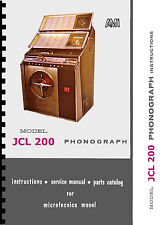 MANUALE COMPLETO  (manual) JUKEBOX ROWE AMI (MICROTECNICA) JCL  200 (juke box)