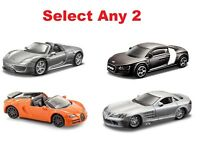 2 x Burago 1:64 Diecast Toy Car Various Styles Choose Any Two