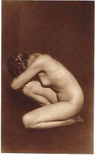 1920's Vintage German Female Nude Model Art Deco Weidemann Photo Gravure Print