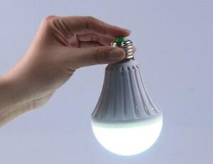 E27 Emergency LED Light Bulb Rechargeable Intelligent Smart Lamps 7/9/12/15W