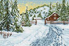 Stickpackung Stickbild Gobelin WINTER MORNING, 24 x 36 cm sticken Handarbeiten
