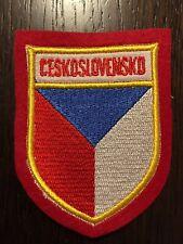 Patch toppa CM8X6 scudetto in stoffa ricamato Ceskoslovensko Cecoslovacchia