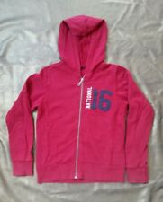 United Colours of Benetton Boys cotton Varsity Hoodie red with pattern 9 -10yrs
