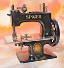 Antique Mini Singer Sewing Machine Hand Crank  Child Table Top Model 20