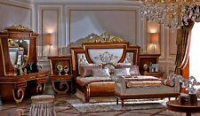 Komplettes Schlafzimmer Bett Schminktisch Bank Nachttisch Betten Barock Rokoko