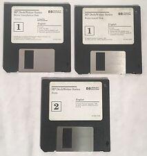 "Vintage HP Hewlett-Packard Deskwriter 3.5"" Diskettes Driver Utilities Disks"