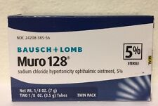 (New) Bausch - Lomb Muro 128 Ointment 5% 2-Pack 7 g