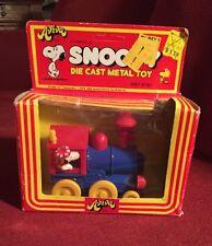 Vintage Peanuts Snoopy's Locomotive Aviva Die-Cast Toy Rare New In Box