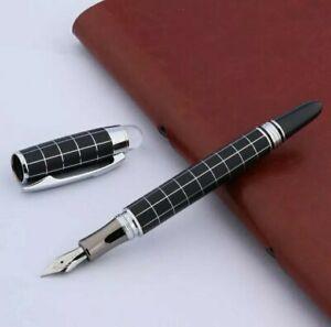 Homage pen, a BAOER. Black and white check FOUNTAIN pen. UK SELLER