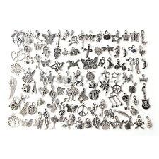 Wholesale 100pcs Silver Bulk Lots Tibetan Silver Mix Charm Pendants Jewelry DIY
