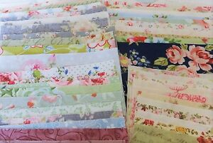 CHARM PACK 60 ASSORTED  PATTERNED 5 INCH SQUARES 100% QUILTING WEIGHT COTTON