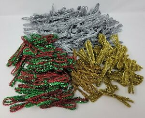 """Lot of 400+ pcs Christmas Tinsel Chenille Stems Kids Craft Pipe Cleaners 12"""""""