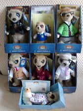 OFFICIAL COMPLETE SET OF COMPARE THE MARKET MEERKATS TOYS WITH CERTIFICATES