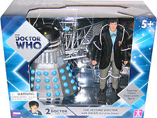 "5"" Doctor Who 2nd Dr and ""Evil of the Daleks"" Dalek Action Figure Set, New"