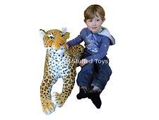 GRANDE Leopard giocattolo morbido 140 cm peluche